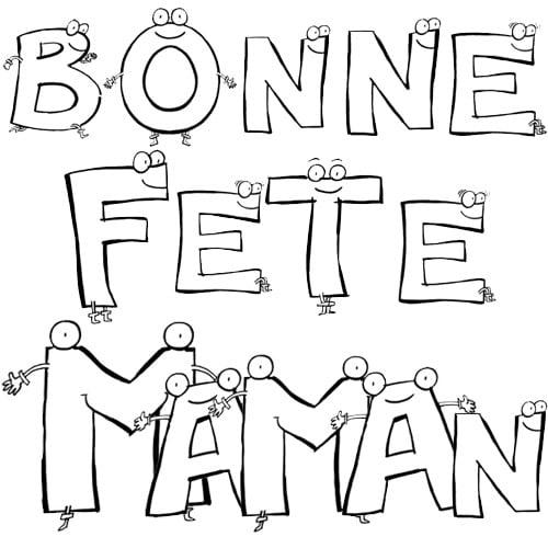 Coloriage Bonne Fête Maman Fermons Les Abattoirs Mtl