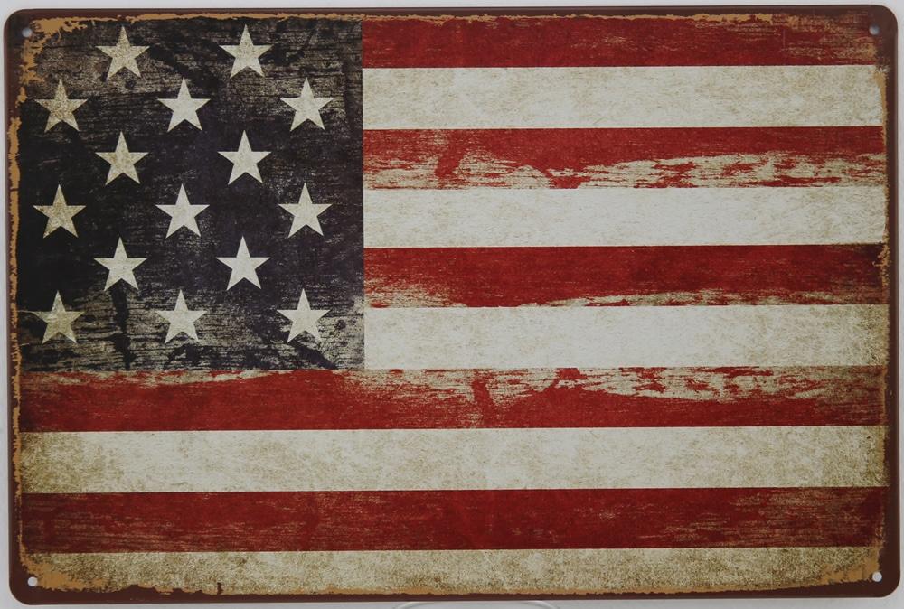 Plaque émaillée USA