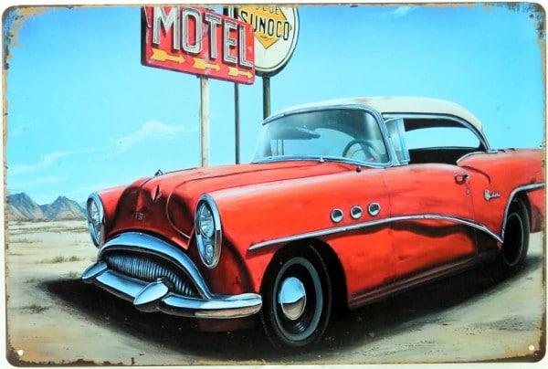Plaque émaillée Motel USA