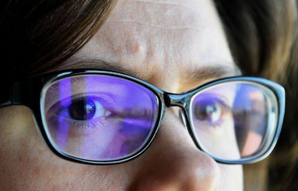 Les yeux et écran bleu